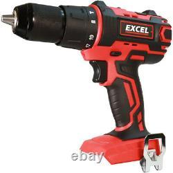Excel Exl5060 18v 10 Pièces Power Tool Kit Avec Chargeur Et Sac De Batteries 4 X 5.0ah