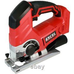Excel Exl5065 18v 10 Piece Power Tool Kit Avec 4 X Batteries & Chargeur Dans Le Sac