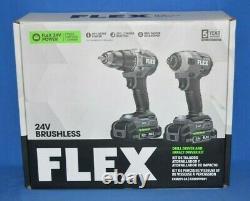 Flex 24v Ensemble D'outils Sans Brosse Pilote De Forage Et Kit De Pilote D'impact Fxm201-2a