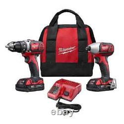 M18 Cordless Compact Drill Impact Driver Combo Tool Kit Avec 2 18 Volts Lithium Ion