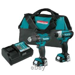 Makita Ct232 12 Volt 1.5ah 2-outil Lithium-ion Drilling And Driver Combo Kit