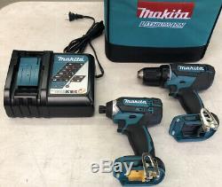 Makita Power Tool Combo Kit 18v Ct225r Impact / Forage Pas De Batterie