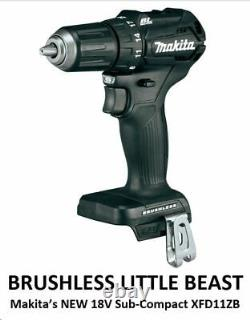 Makita Xfd11z Black 18v Lxt Sub-compact Bl Driver Drill 1/2 (outil Nu) Limited