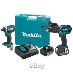 Makita Xt263m 18 Volts 4.0ah 2-outil D'impact Pilote Et Pilote Drill Kit Combo