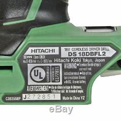 Metabo Hpt / Hitachi Ds18dbfl2 18v Li-ion Brushless Drill Conducteur Nu Outil