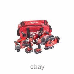 Milwaukee 18v 6 Piece Kit M18fpp6d2-503b Sans Fil Carburant 6 Pièces Jeu D'outils Sac À Outils