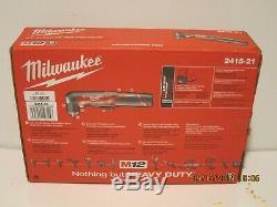 Milwaukee 2415-21 M12 Li-ion 3/8 Perceuse À Angle Droit Conducteur Kit Bateau Sans Nouveau