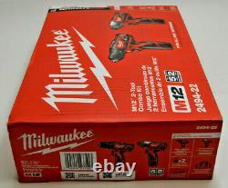 Milwaukee 2494-22 M12 2-outil Sans Fil Combo Kit Forer Driver & Impact Driver Nouveau