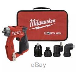 Milwaukee 2505-20 M12 Fuel Installation Perceuse / Tournevis 4 En 1 Outil Seulement + Sac Nouveau