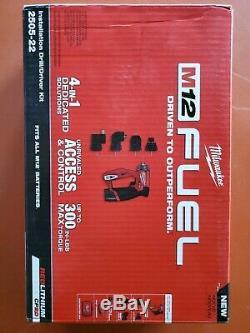 Milwaukee 2505-20 M12 Fuel Installation Perceuse / Tournevis 4-en-1 (outil Seulement) Nouveau! Cr