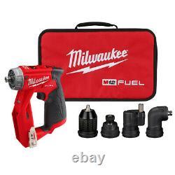 Milwaukee 2505-20 M12 Fuel Perceuse D'installation/conducteur Avec 4 Tête D'outil (outil Seulement)
