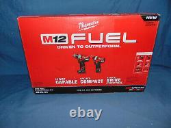Milwaukee 2598-22 M12 Fuel 2 Outils Combo Kit 1/2 Marteau Et 1/4 Pilote De Hexagone