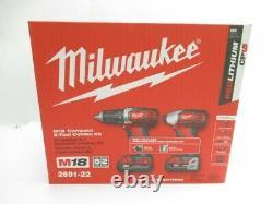 Milwaukee 2691-22 M18 Li-ion 2 Outils Combo Kit Nouveau