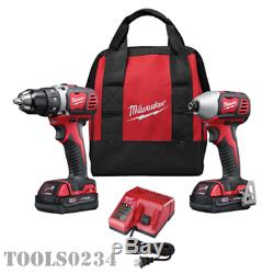 Milwaukee 2691-22 M18 Sans Fil Li-ion Combo 2-tool Kit Withbatteries & Chargeur
