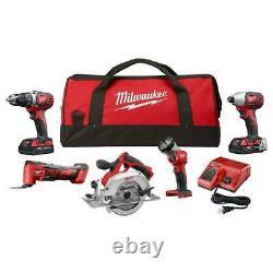 Milwaukee 2695-25ctm M18 18-volt Lithium-ion Sans Fil Combo 5 Tool Kit Combo