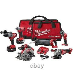 Milwaukee 2796-26 M18 Fuel Lithium-ion 6-tool Combo Kit