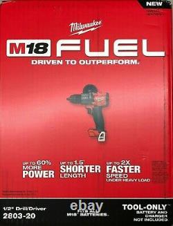 Milwaukee 2803-20 M18 Volt Carburant Sans Fil Drill Driver Bare Outil Nouveau Dans La Boîte
