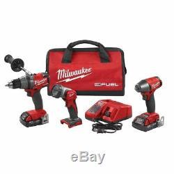 Milwaukee 2891-23 M18 Fuel 3 Tool Kit 1/2 Perceuse / Tournevis 3/8 Léger Impact Et Travail