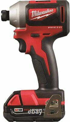 Milwaukee 2892-22ct M18 Compact 2-tool Combo Kit, Pilote De Forage/conducteur D'impact