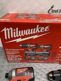 Milwaukee 2892-22ct M18 Kit Combo Pour Pilote De Forage Et Conducteur D'impact 18v (p-16)