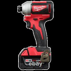 Milwaukee 2893-22 M18 2-tool Combo Kit Hammer Drill/ 3-speed Impact Driver (nouveau)