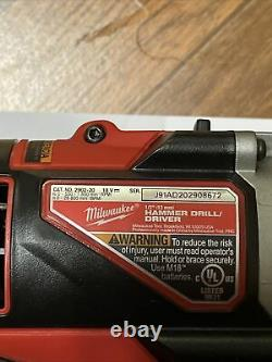 Milwaukee 2902-20 18v 18 Volt M18 Brushless 1/2'' Hammer Perceuse/conducteur Bare Tool