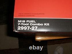 Milwaukee 2997-27 M18 Fuel Cordless Lithium-ion 7-tool Combo Kit Nouveau