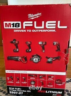 Milwaukee 2997-27 M18 Fuel Sans Fil Lithium-ion 7-outils Combo Nouveau