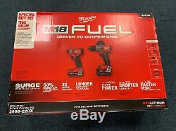Milwaukee 2999-22cx Fuel 2 Outil Combo Kit Surge Pilote & Hammer Drill Pilote Nouveau