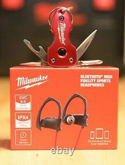 Milwaukee Bluetooth Casque & Multi-tool Flashlight Keychain Lot