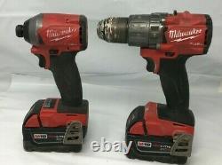 Milwaukee Fuel 2997-22 M18 18-volts 2-tool Hammer Drill/impact Driver Kit Vg