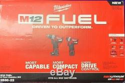 Milwaukee Fuel 2-tool Combo Kit 1/2 Marteau Perforateur Et 1/4 Po Hex Impact Driver