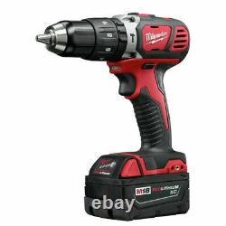 Milwaukee M18 2-tool Combo Kit Hammer Drill And Impact Driver 2697-22 Nouveau