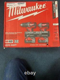 Milwaukee M18 Compact Brushless 2- Outil Combo Kit 2892-22ct