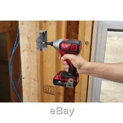 Milwaukee Sans Fil Tool Kit Combo 18 Volts Au Lithium-ion Chargeur De Batterie Sac À Outils