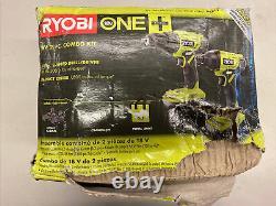 New Ryobi One+ 18v Combo Sans Fil Lithium-ion 2-tool Avec Perceuse/conducteur, Impact