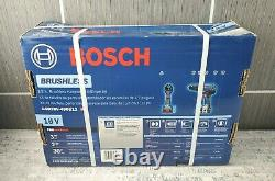 Nouveau Bosch Gsb18v-490b12 1/2 Hammer Drill Driver Tool Kit Scellé