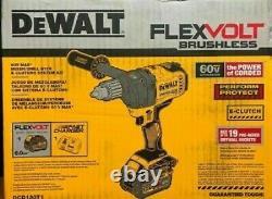 Nouveau Dewalt Dcd130t1 60v Max Cordless Mixer Drill Tool Avec E-clutch System Kit Nouveau