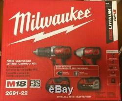 Nouveau Milwaukee 2691-22 M18 Li-ion 2-tool Kit Combo