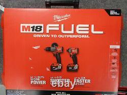 Nouveau! Milwaukee 2997-22 M18 Fuel 2-tool Hammer Dril/impact Driver Combo Kit