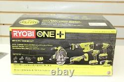 Nouveau Ryobi P1819 One 18v Lithium-ion Cordless 6-tool Combo Kit, 2 Batteries, Sac