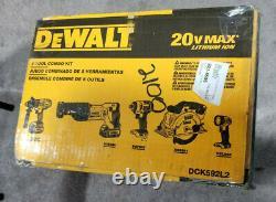 Outil Dewalt 5-tool (dck592l2) 20v Sans Fil Sans Fil Combo Kit