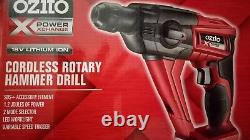 Ozito 18v Cordless Rotary Hammer Drill Skin Power Tool Xchange Driver Lithium