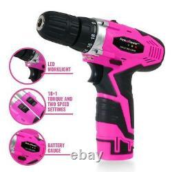 Pink Power Pp121li 12v Sans Fil De Forage Et Kit De Pilote Pour Les Femmes-