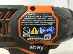 Ridgid 18 Volts Au Lithium-ion Sans Fil Perceuse / Tournevis Et Outils D'impact Du Pilote Uniquement