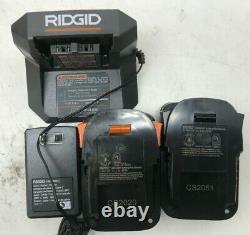 Ridgid R9272 Combo Sans Fil 18v 2 Outils Avec (2) Batteries, Chargeur Et Sac, Ln