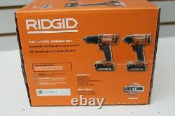 Ridgid R9272 Combo Sans Fil 18v Avec 1/2 Perceuse/conducteur, 1/40 Impact