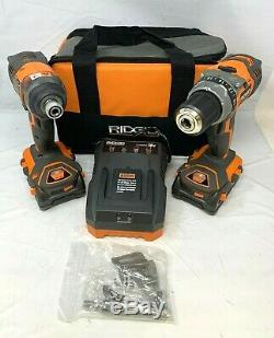 Ridgid R96021 Perceuse À Percussion Driver 2 Power Tool Combo Kit Sans Fil, Zx114