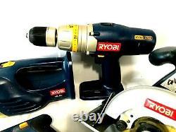 Ryobi 18v Outils Sans Fil Lot 5 Outils Et 1 Chargeur