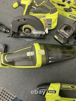 Ryobi Combo Tool 5-tool 18-volt 2-batteries Chargeur Sans Fil Led Light Pck300ksb